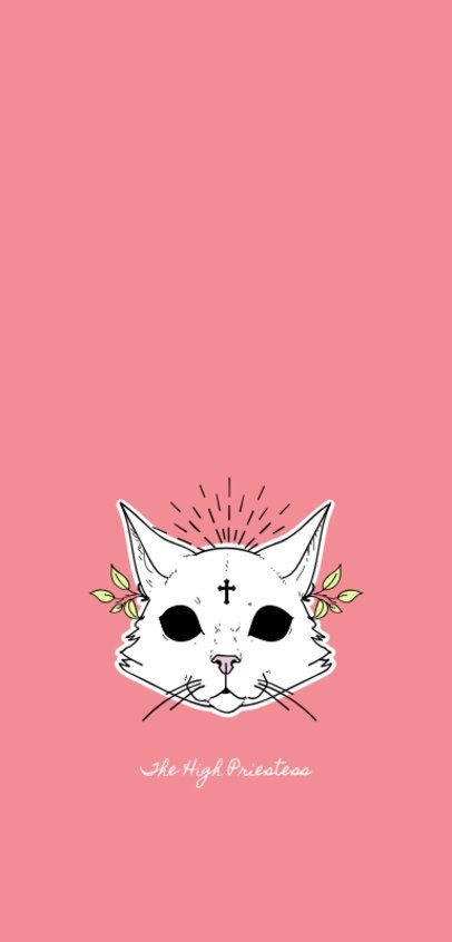 Phone Case Template with Cat Illustrations 1688f