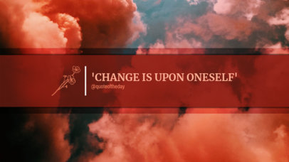 Inspirational YouTube Banner Template with a Cloudy Abstract Background 449f-1702