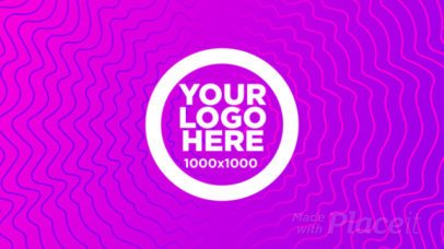 Cool Intro Maker for a Logo Reveal with an Abstract Pattern Background 1806