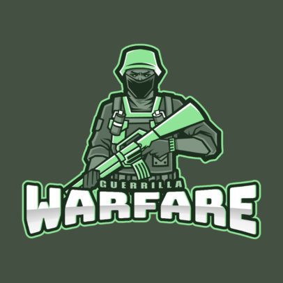 Gaming Team Logo Maker with a Warfare Theme 2449h