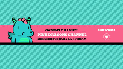 Pixel Art YouTube Banner Generator for Gaming Channels 1704e
