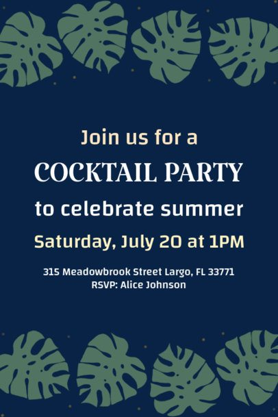 Invitation Card Maker for a Cocktail Party 1685a
