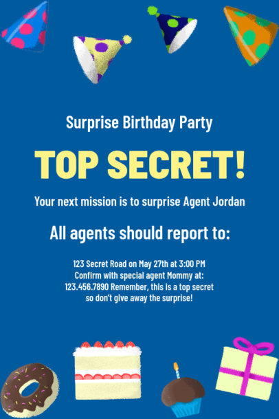 Invitation Maker for a Surprise Birthday Party 1685l