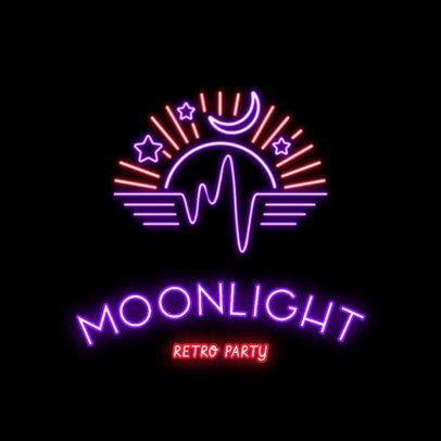 Nightclub Logo Maker with Retro Style 2415c