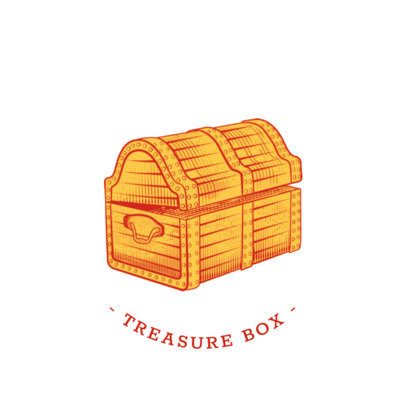 Treasure Chest Phone Grip Design Template 689e