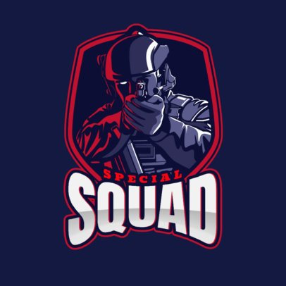 FPS Gaming Team Logo Creator with a Soldier Emblem 2449t