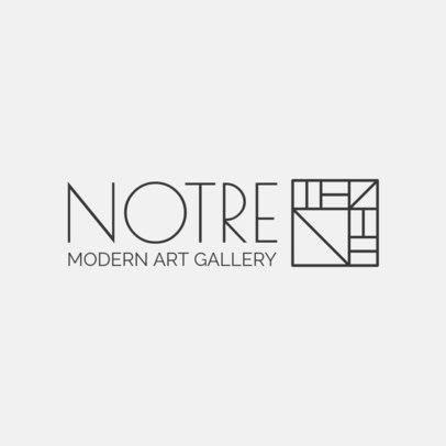 Logo Maker for a Modern Art Gallery 1311f