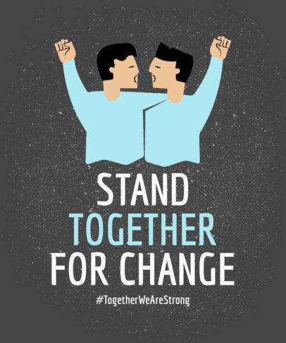 LGBT Rights Tshirt Design Template 7e