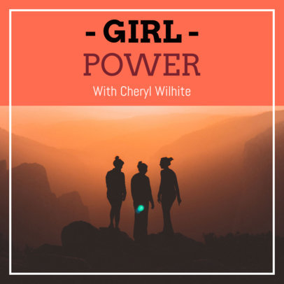 Podcast Cover Maker for Woman Empowerment Shows 1723a