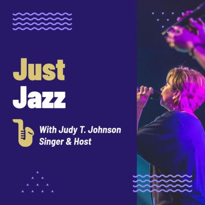 Music Podcast Cover Template for Jazz Fans 1721g