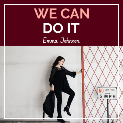 Podcast Cover Maker for a Female Motivational Talk Show 1723j