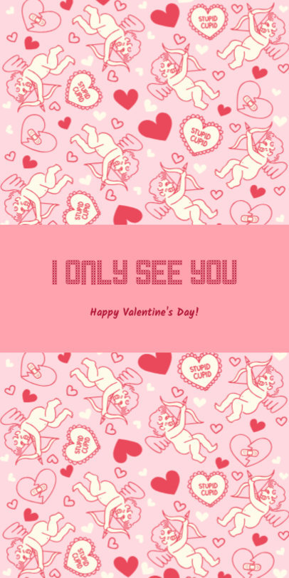Valentine's Greeting Card Maker Featuring Cupids Clipart 1586g