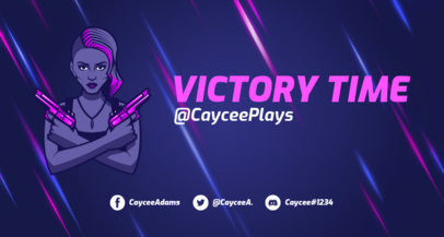 Twitch Banner Maker with a Female Character Inspired in Fortnite 1735g - 1728