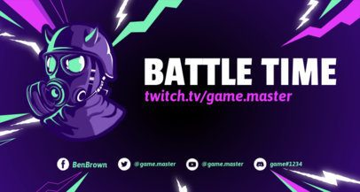 Twitch Banner Template with Thunderbolts and Fortnite-Inspired Characters 1735j - 1728