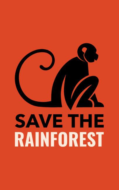Save the Amazon Rainforest T-Shirt Design Maker 1152n-1743
