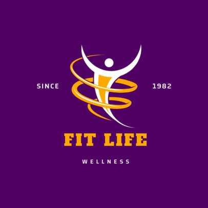 Fitness Logo Maker for a Wellness Center 2457c