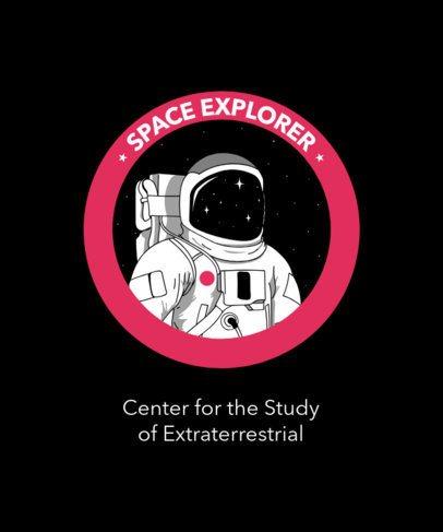 T-Shirt Design Maker Featuring a Space Explorer 1717a