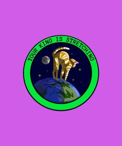 T-Shirt Design Creator with a Cat in Outer Space 1717f