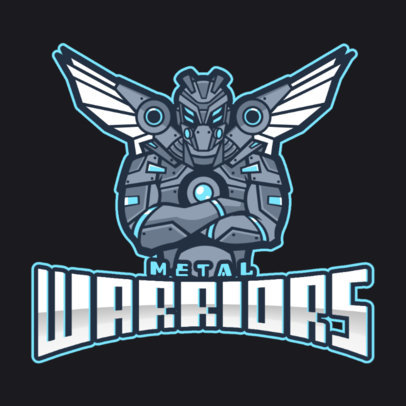 Gaming Logo Template with a Mobile Legend Inspired Warrior Illustration 2455i