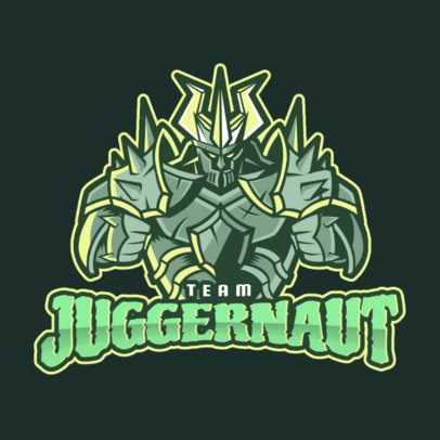 Gaming Logo Creator with a Juggernaut Style Character Clipart 2455j
