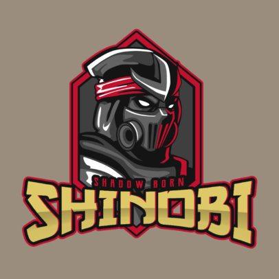 Mobile Legends-Style Gaming Logo Maker with a Ninja Illustration 2455o