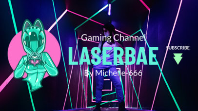Fortnite -Inspired YouTube Banner Maker with a Female Character with a Helmet 1735k