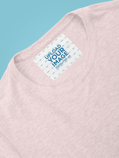Mockup of Clothing Label on a Heathered T-Shirt 28984
