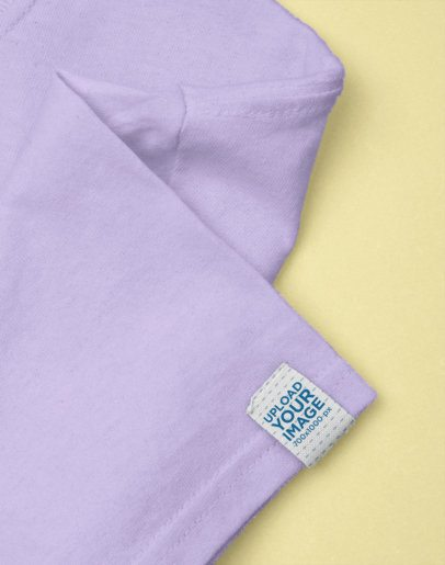 Clothing Label Mockup Featuring a Plain Backdrop 29024