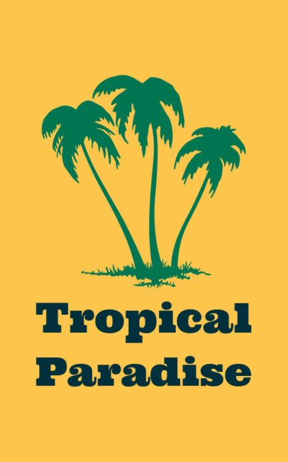 Tropical T-Shirt Template with Beach Graphics 351a