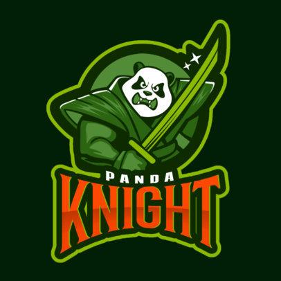 MLBB-Inspired Logo Template with a Panda Samurai 2455cc
