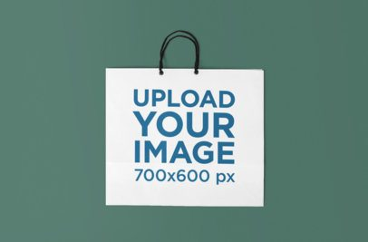 Mockup of a Shopping Bag Lying on a Flat Surface 656-el