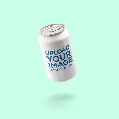 Soda Can Mockup Featuring a Solid Color Background 662-el