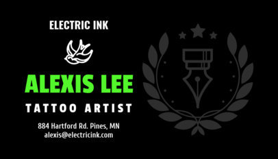 Business Card Template for the Best Tattoo Artist 95e--1819