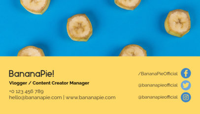 Content Creator Manager Business Card Maker118c