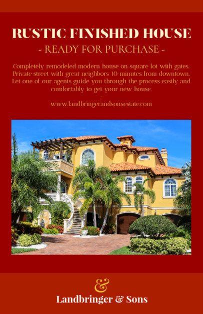 Online Flyer Maker to Design Real Estate Ad 500c--1762