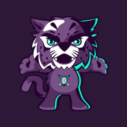 Sports Mascot Maker Featuring a Wildcat 2381f