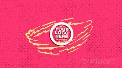 Logo Reveal Intro Maker with Comic-Book Aesthetics 964