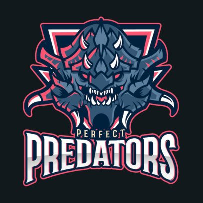 DOTA 2 Inspired Gaming Logo Maker with a Deadly Predator Illustration 2499b