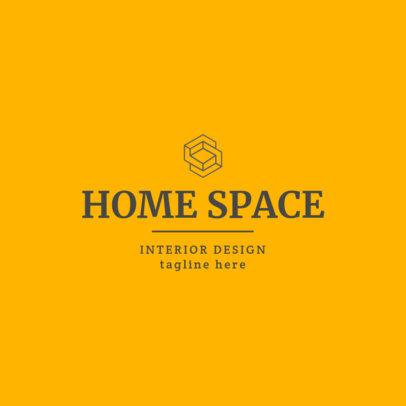 Interior Designer Logo Creator Featuring an Abstract Shape 1330h-2476