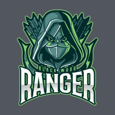 DOTA 2 Inspired Logo Generator Featuring a Female Ranger Clipart 2499i