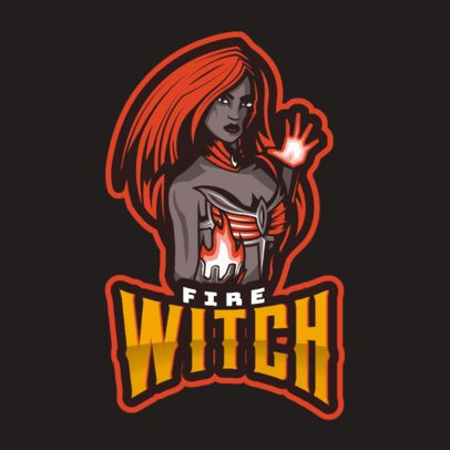 Gaming Logo Maker Featuring a DOTA 2 Inspired Fire Witch Character 2499l