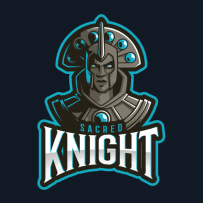 DOTA 2 Inspired Logo Maker with a Fantasy Warrior Character 2486o