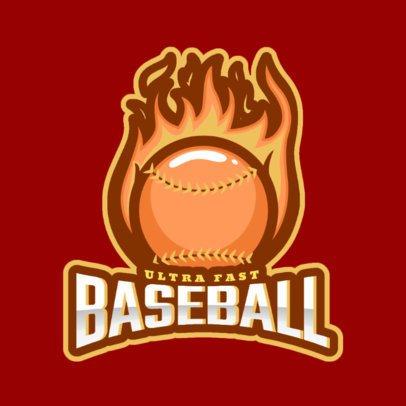 Sports Logo Maker Featuring a Flaming Baseball Ball 172b 2469