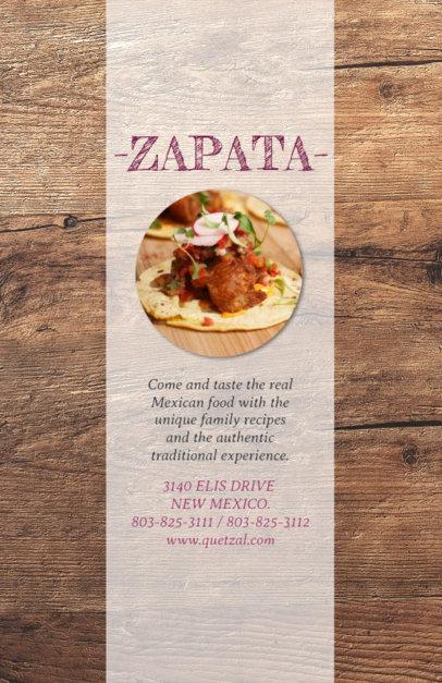Online Flyer Maker for Traditional Mexican Restaurants 377e--1762