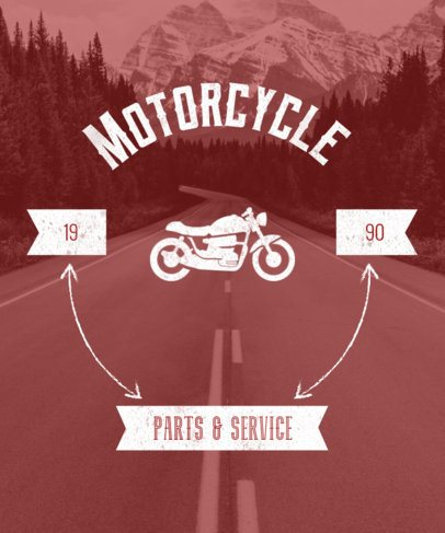 T-Shirt Design Maker for Motorcycle Gear Stores 5a-1903