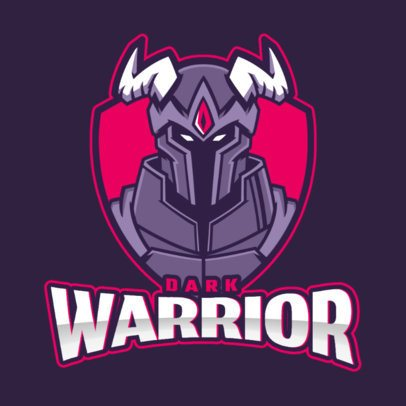 Logo Maker Featuring a Warrior with Horns 2499dd