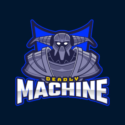 Gaming Logo Template Featuring a Machine 2499ii