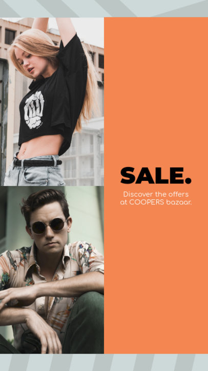 Instagram Story Creator for a Clothing Sale 967c--1762