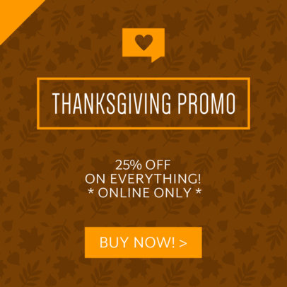 Thanksgiving Day Sale Ad Banner Maker 745b-1903
