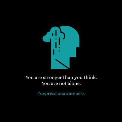 Depression Awareness Instagram Post Creator 612j